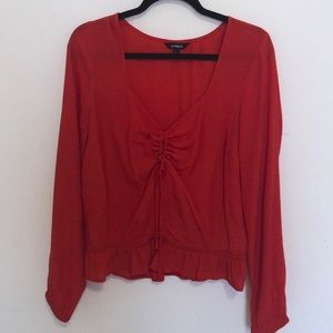 Red Express Long sleeve top